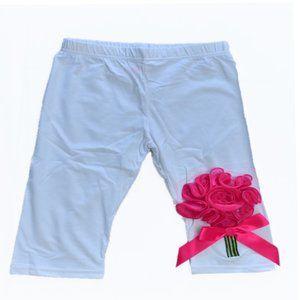 Girls Leggings with Flower Detail